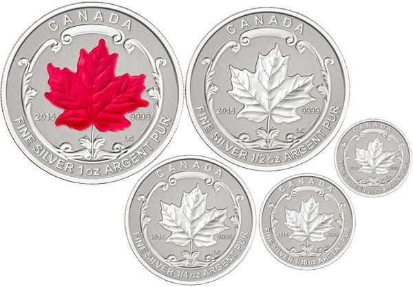 2015 Silver Maple Leaf Fractional Set