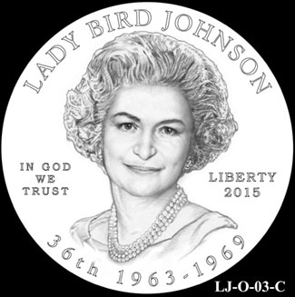 Lady Bird Johnson First Spouse Gold Coin