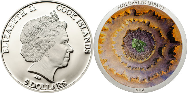 Moldavite Coin