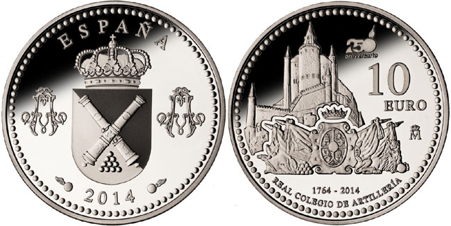 Spain Royal School of Artillery Silver Coin