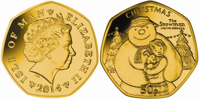 Snowman Gold Coin