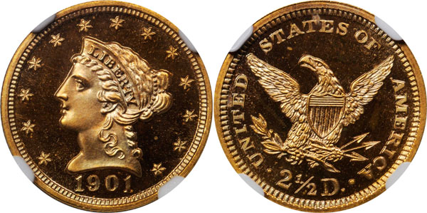 1901 Liberty Quarter Eagle. Proof-67+ Ultra Cameo
