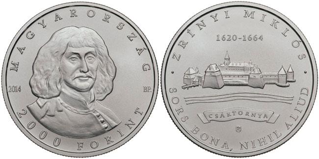 Miklós Zrínyi 2000 forint coin