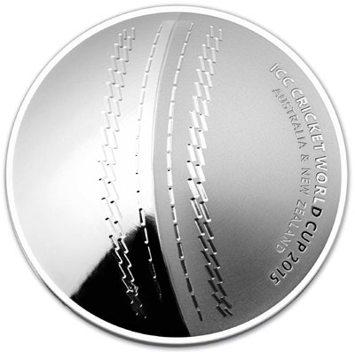 2015 Cricket World Cup Silver Coin