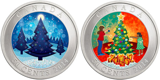 lenticular holiday coin