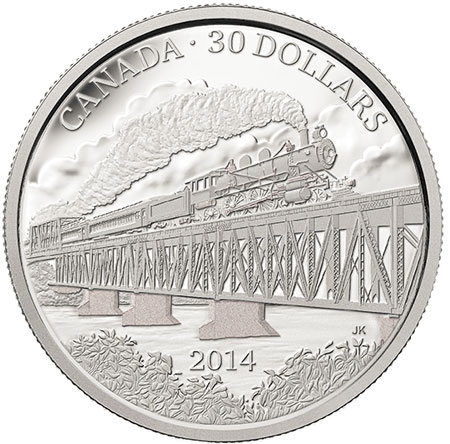Grand Trunk Pacific Railway 2 oz silver coin