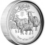 2015 Year of the Goat High Relief Silver Proof Coin