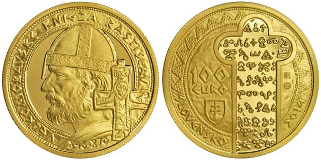 Prince Rastislav of Great Moravia Gold Coin