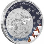 "Perth Mint 2014 Christmas Coin with ""Augmented Reality"""