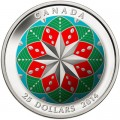 ultra-High Relief Coloured - fine silver Christmas Ornament coin