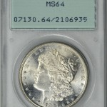 Inconsistencies of PCGS Old Green Holders