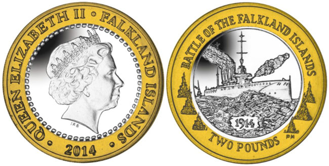 Battle of hte Falkland Islands Coin
