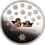 Festive Christmas Coin Displays Latent Images of Snowflakes