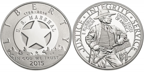 2015 US Marshals Silver Dollar