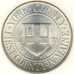 1936 York County Tercentenary Commemorative Half Dollar