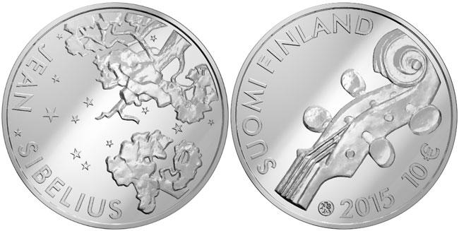 2015 Jean Sibelius Silver Coin