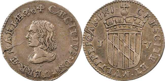 Maryland Lord Baltimore Groat (Fourpence)