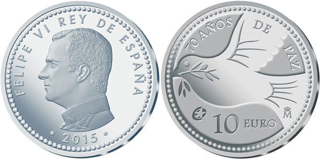 Spain 70 Years of Peace Silver Coin