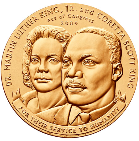 Martin Luther King Jr. Bronze Medal Coin
