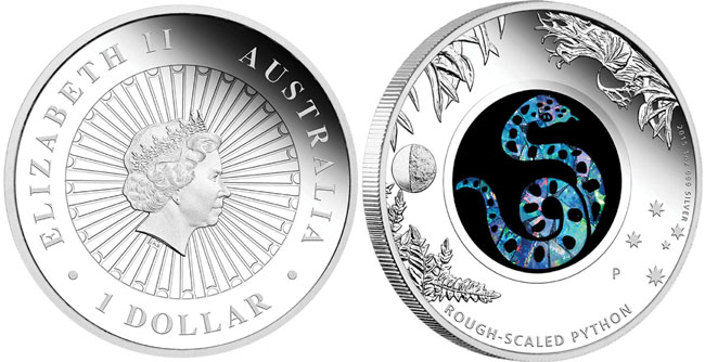 Australian Opal Rough Scaled Python Coin