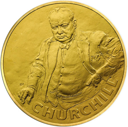 Churchill Kilo gold Coin