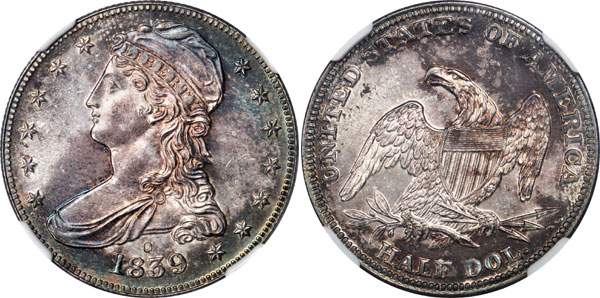 1839-O Capped Bust Half Dollar