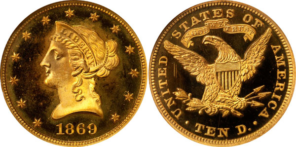 1869 Proof Liberty Eagle