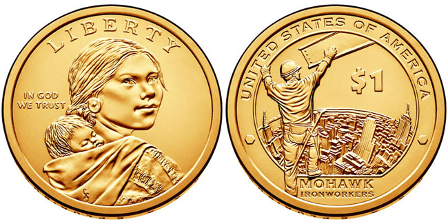 2015 native american dollar
