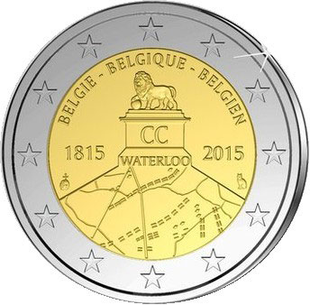 Waterloo Commemorative Euro Coin