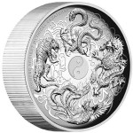 Perth Mint 2015 Chinese Ancient Mythical Creatures High Relief 5oz Silver Proof Coin