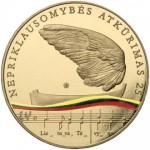 New Coins Celebrate 25th Anniversary of the Restoration of Lithuania's Independence