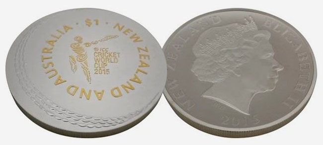 2015 New Zealand Cricket Silver Coin