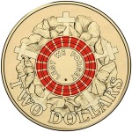 Symbolic Red Colorized Circulating Coin Marks Centenary of the Gallipoli Landing