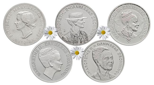 Denmark silver coin 2 kroner 16th of April 1958