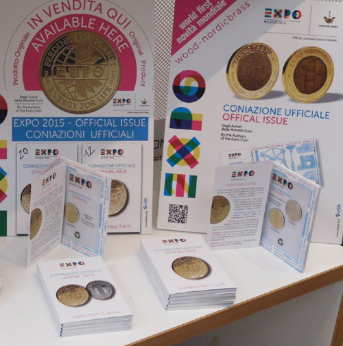The single and two-coin set is the best selling and most popular EXPO souvenir.