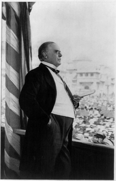 President McKinley delivers what will be his last public address, given at the Pan-American Exposition in Buffalo, N.Y., on September 5, 1901, the day before he is shot.