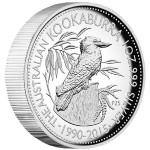 25th Anniversary Australian Kookaburra 1 oz Silver Proof High Relief Coin