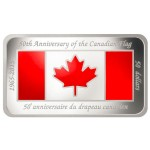 Rectangular Shaped Coin Celebrates 50th Anniversary of the Canadian Flag