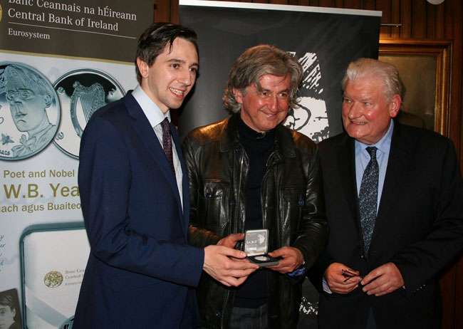 The third strike coin was presented to Fiach MacConghail, the Director of the Abbey Theatre.