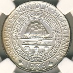 1936 Norfolk, Virginia Bicentennial Commemorative Half Dollar
