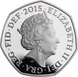 UK 2015 battle of BR. silver 50 pence a