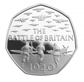 UK 2015 battle of BR. silver 50 pence b