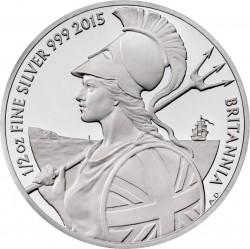UK 2015 britannia silver half oz b