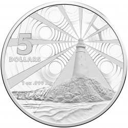 australia 2015 $5 Silver Lighthouse REV