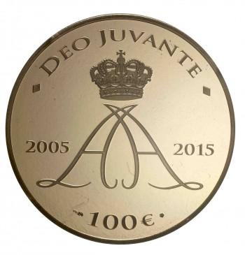 monaco 2015 €100 accession anniv. b