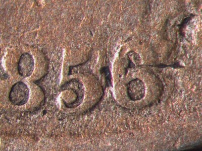 Altered Date 1856 detail