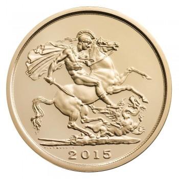 UK 2015 £5 gold b