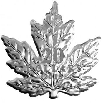 canada 2015 $20 maple leaf shape b