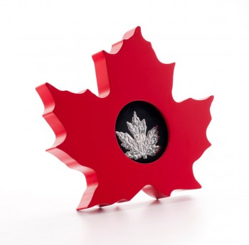 canada 2015 $20 maple leaf shape c