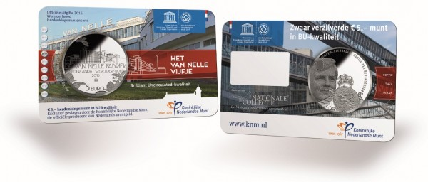 netherlands 2015 van nelle unesco €5 BU card